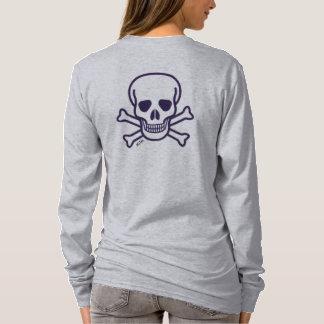 Skull n Bones gray women long sleeve shirt back