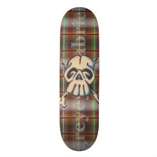 Skull N Bones Neo Plaid 19.7 Cm Skateboard Deck