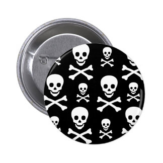 Skull N Crossbones 6 Cm Round Badge