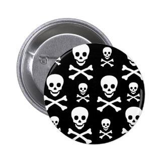 Skull N Crossbones 6 Cm Round Badge
