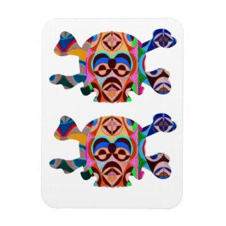Skull n Ghost : Novino African Mascot Rectangular Photo Magnet
