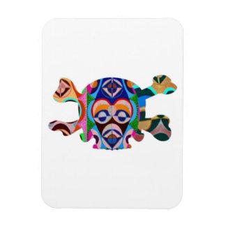 Skull n Ghost : Novino African Mascot Vinyl Magnet