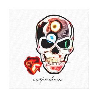 Skull n´rose - carpe diem canvas print
