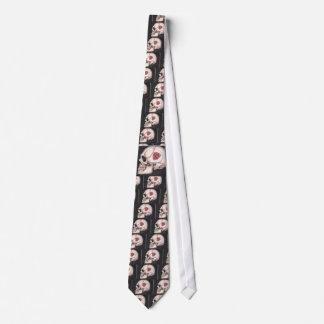 Skull 'N Roses Tie