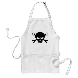 Skull 'n' Tools - Screw Pirate 2 (black) Apron