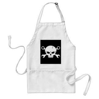 Skull 'n' Tools - Screw Pirate 2 (white) Aprons