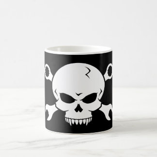 Skull 'n' Tools - Screw Pirate 2 (white) Basic White Mug