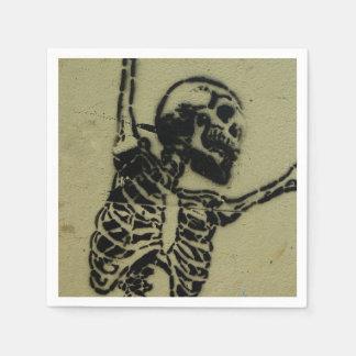 Skull napkins. disposable serviette