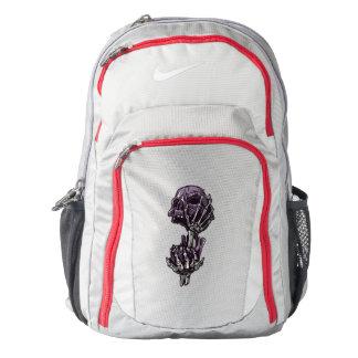 Skull Nike Performance Backpack, Wolf Grey/Gym Red Backpack