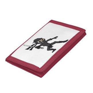 skull ninja cartoon. trifold wallets