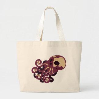 Skull Octopus Jumbo Tote Bag