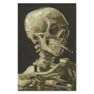 Skull of a Skeleton with Burning Cigarette, 1885 Tissue Paper