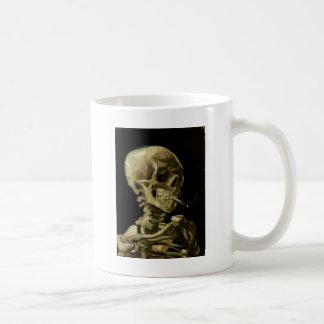 Skull of a Skeleton with Burning Cigarette Coffee Mug