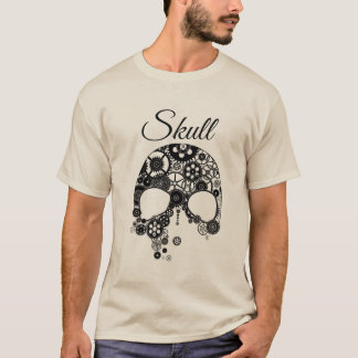 Skull of black gears T-Shirt