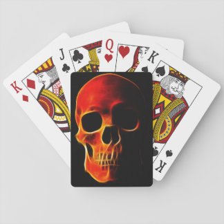 Skull of Flames Playing Cards