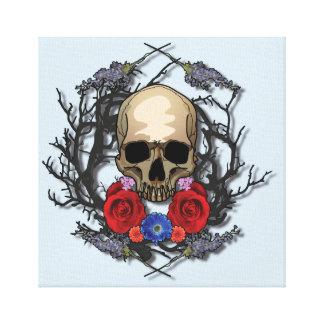 Skull of Flowers Canvas Print