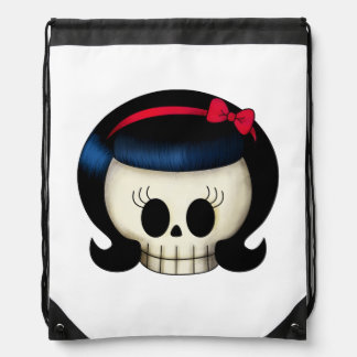 Skull of Rockabilly Girl Backpacks
