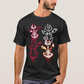 Skull, Paintbrush, Wrench, and Pencil Logos T-Shirt