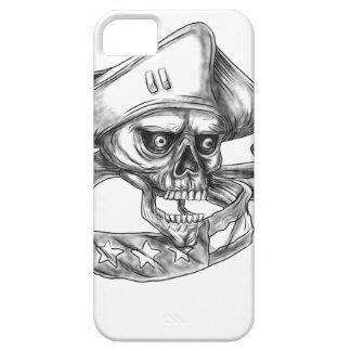 Skull Patriot USA Flag Ribbon Tattoo iPhone 5 Cover