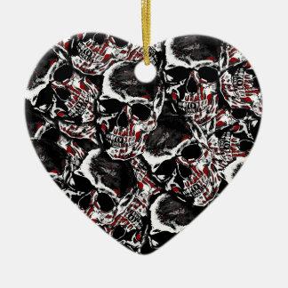 Skull pattern ceramic ornament