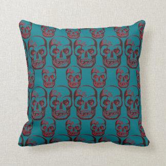 skull pattern cushion