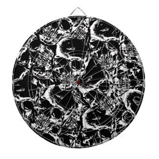 Skull pattern dartboard