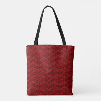 Skull pattern in network color tote bag