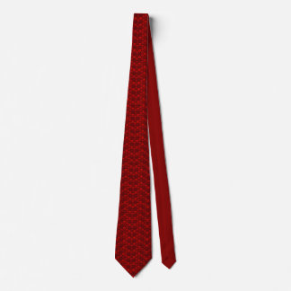 Skull pattern in red colour tie