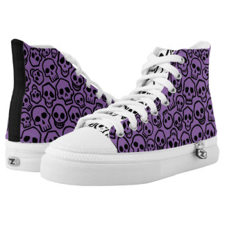 Skull Pattern Kicks High Tops