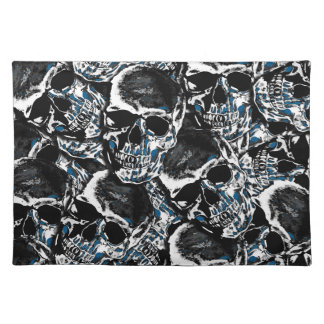 Skull pattern placemat
