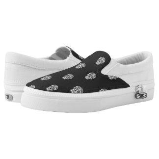 Skull Pattern Slip On Shoes