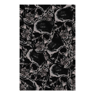 Skull pattern stationery