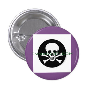 Skull Pin Purple and Green