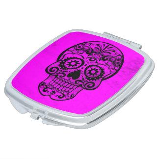 Skull,pink 04 vanity mirror
