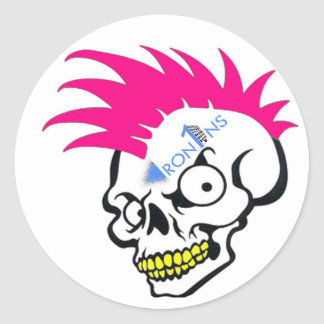 Skull pink Stickers