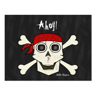 Skull Pirate Postcard