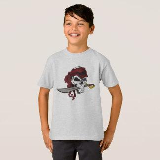 Skull Pirate Sword Digital Graphic T-Shirt