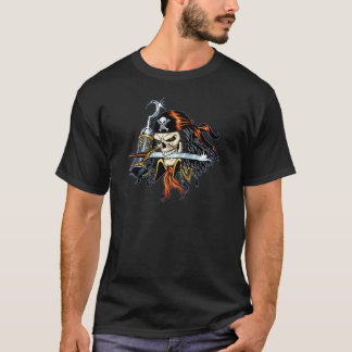 Skull Pirate with Sword and Hook by Al Rio T-Shirt