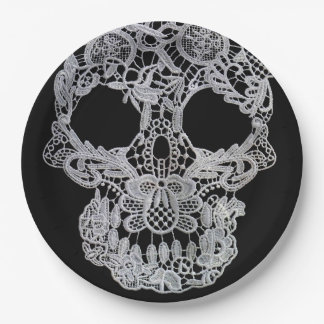 Skull plates. 9 inch paper plate