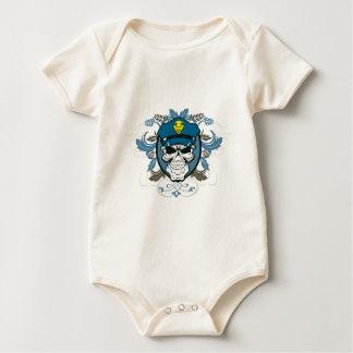 Skull Police Officer Baby Bodysuit