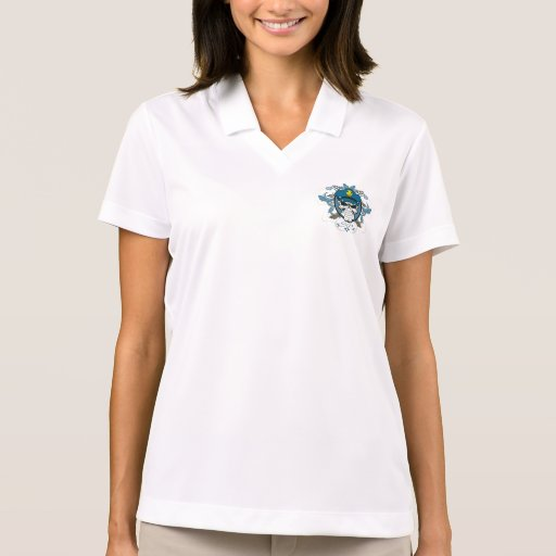 Skull Police Officer Polo T-shirts