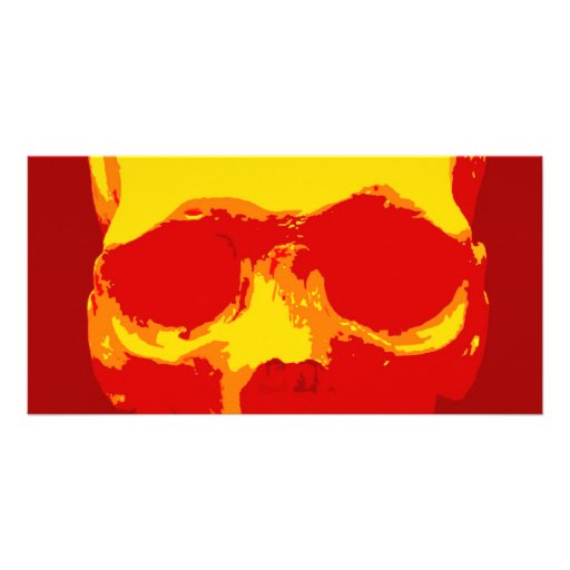 Skull Pop Art Custom Photo Card