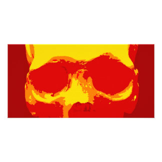 Skull Pop Art Picture Card