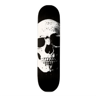 skull pop art retro look skate board