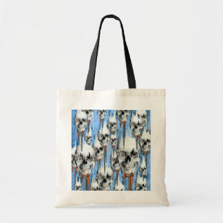Skull popsicle pattern canvas bags