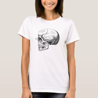 skull profile classic drawing T-Shirt