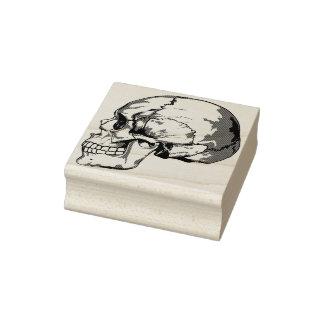 Skull profile illustration art stamp