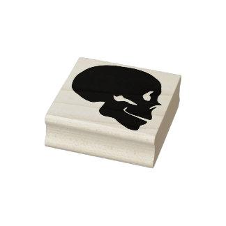 Skull profile silhouette art stamp