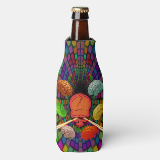 Skull Psychedelic Bottle Cooler