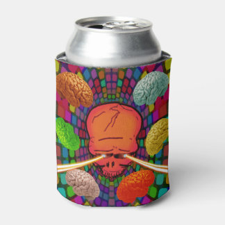 Skull Psychedelic Can Cooler